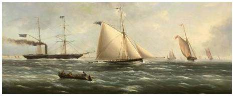 Cutter Yacht ALARM, Royal Yacht Squadron, 1841