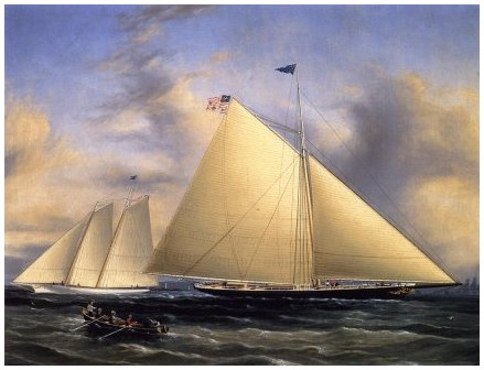 The Sloop 'Maria' Racing the Schooner Yacht 'America,' May 1851 - James E Buttersworth
