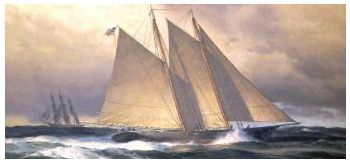 To A New Shore, Schooner America crossing the Atlantic in 1851