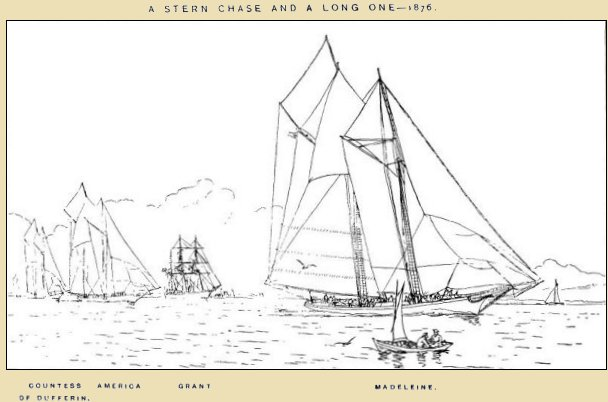 A stern chase and a long one- 1876 - Madeleine, America, Countess of Dufferin