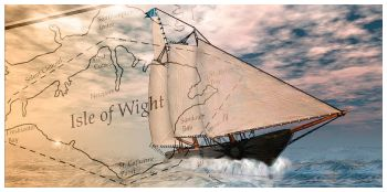 America's Cup Yacht Race With Map by Carol & Mike Werner