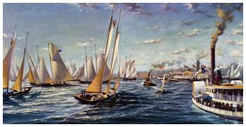 The first defense of the America's Cup