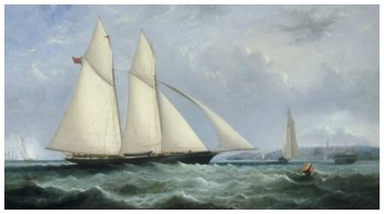 The Schooner Yacht 'Cambria', 188 Tons, Racing off Ryde, 1868 - Arthur Wellington Fowles