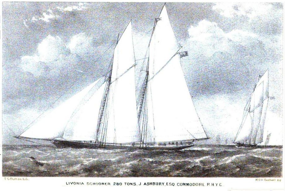 THE LIVONIA, drawn by Mr. T. G. Dutton, from an oil painting by Mr. A. Fowles, of Ryde