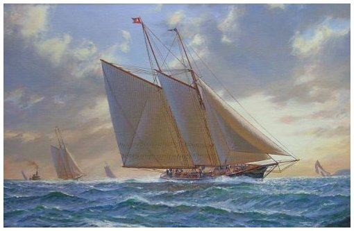 The Schooner Madeline winner of the 1876 americas Cup - Shane Couch