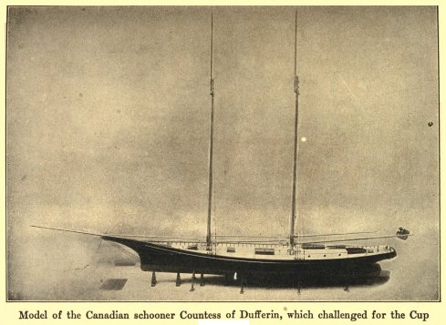Model of the Canadian schooner Countess of Dufferin