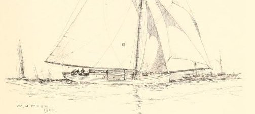 Mischief drawing by W. G. Wood - The Lawson history of America's Cup