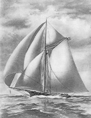"SLOOP YACHT ""POCAHONTAS,"" COMMODORE JAMES D. SMITH."