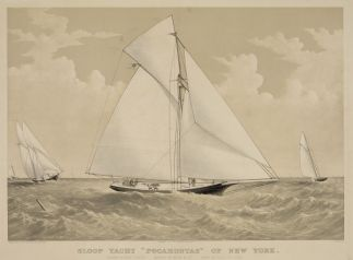 Sloop Yacht Pocahontas of New York
