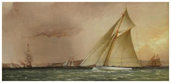 James Edward Buttersworth Anglo-American (1817-1894) - PURITAN Races Towards The Narrows Off Brooklyn American Yachts Off New York