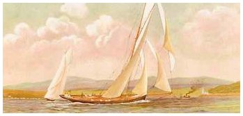 Currier & Ives yachting prints