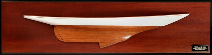 Vigilant half hull wooden hand crafted