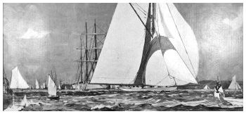 1899 America Cup Shamrock Yacht Cowes Paris Falmouth | Old-print.com Limited