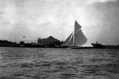 12-Shamrock finishing off Tilbury. Winner of King's Cup. River Thames Yacht Club, 11th June 1908