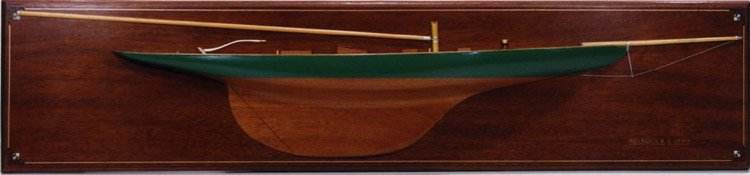 Shamrock 1899 half hull wooden hand crafted.
