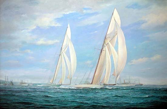 Brian Mays - 'Columbia and Shamrock II, America's Cup