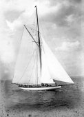1086-First day underway - Shamrock II. 4th May 1901.