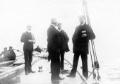 1092-On deck of Shamrock II - Sir Thomas Lipton, Mr Westwood and others. 1901.