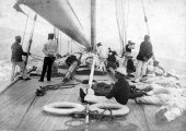 1111-The deck and crew of Shamrock II. 1901.