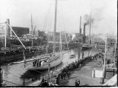 245-Yachts awaiting measurement on the Erie Basin. 1901.