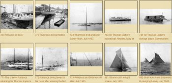 Photos of Shamrock III, challenger of the America's Cup in 1903
