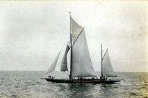 524-Shamrock IV en route from Falmouth to the Azores. August 1914.
