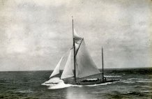537-Shamrock IV enroute from the Azores to Bermuda. August 1914.