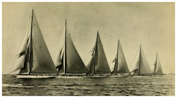 START OF THE FIRST EASTERN YACHT CLUB RACE, JUNE 23