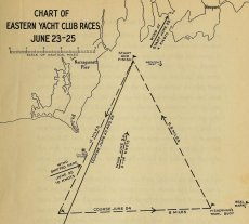 Chart of Eastern Yacht Club races (June 23-25)