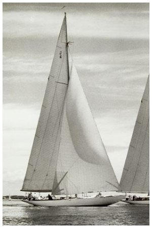WEETAMOE, using sail #J4, and VANITIE, #I/3, New York Yacht Club Cruise, 1933