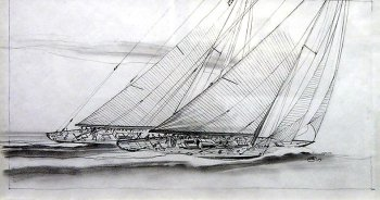 John Mecray - J boats - Pencil