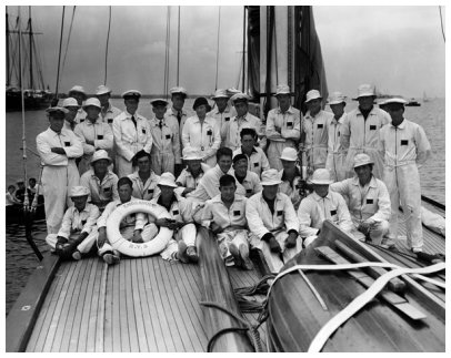 Crew of ENDEAVOUR by Rosenfeld and Sons, September 15, 1934.