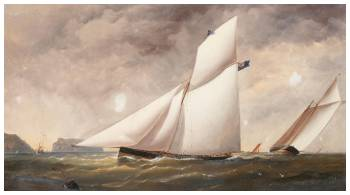 The Royal Yacht Squadrons Famous Cutter Arrow Under Full Sail