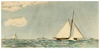 Mischief, American Cutter Yacht by Robert F. Paterson