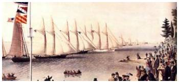 NYYC's Annual Regatta 1868 by Currier & Ives