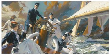 """A Thrash to Windward: Mrs. Iselin and the Crew of COLUMBIA, 1899""  By Russ Kramer"