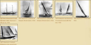 Photos of Shamrock V, challenger  of America's Cup 1930